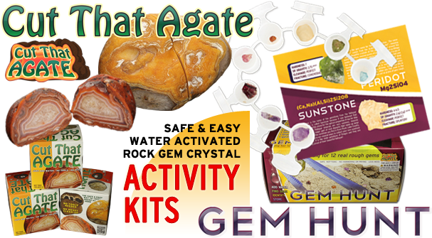Rock and Gem Activity Kits brought to your by Cut That Agate